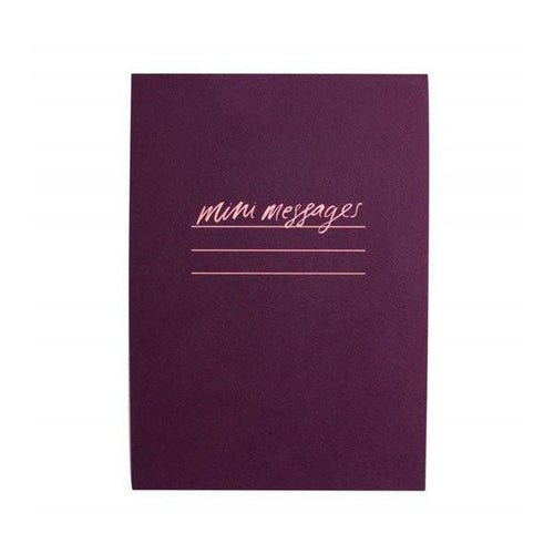Mini Messages A6 Lined Notepad