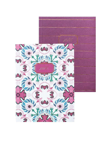 A6 Notebook Set 2PK: Moroccan Lines | Blushing Confetti