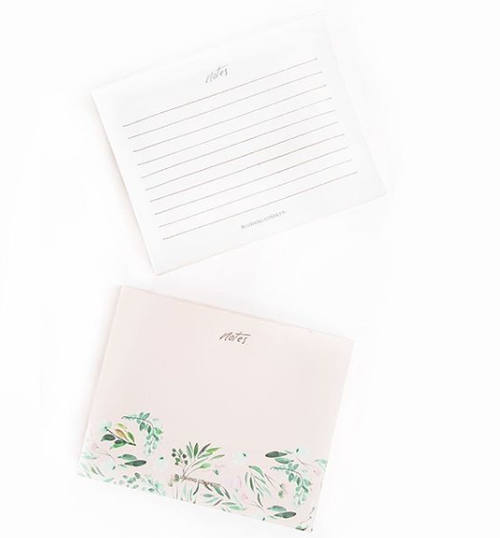 Rose Gold Floral Notepad