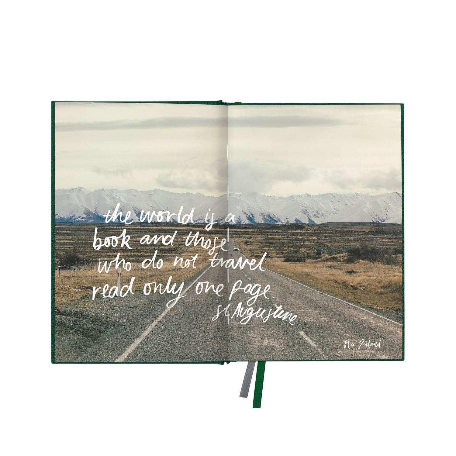 "Green Linen Travel Journal ""Where to Beautiful"""