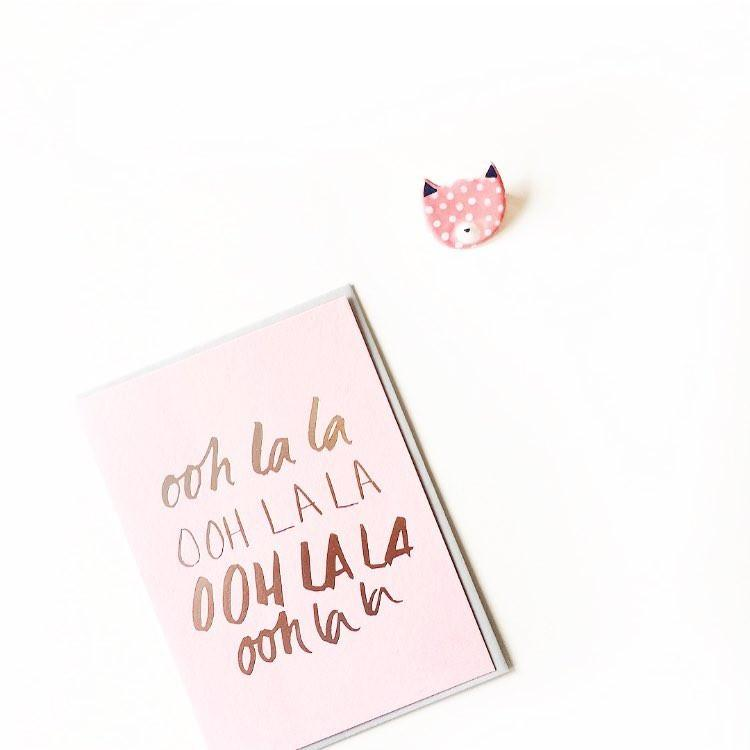Ooh la la Greeting Card | Blushing Confetti