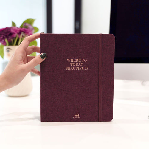 Where to Today - Plum Linen Weekly Planner 2020