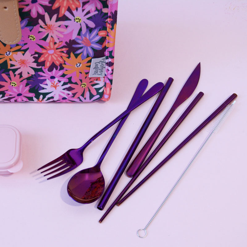 Take Me Away Cutlery Kit - Plum