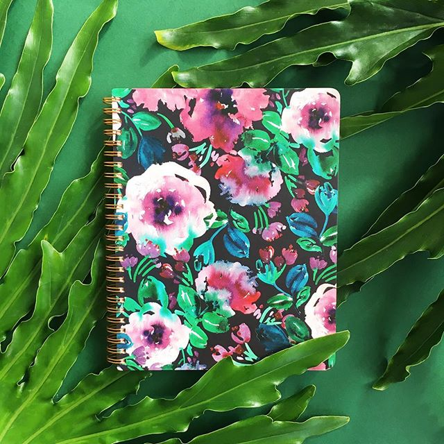 Plum Floral Spiral Notebook