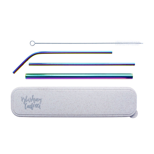 On The Go Straw Set - Rainbow