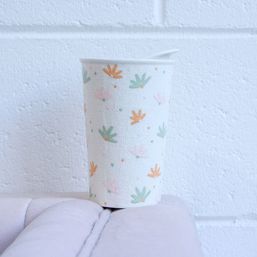 Sweet Daisy Midi Ceramic Reusable Cup
