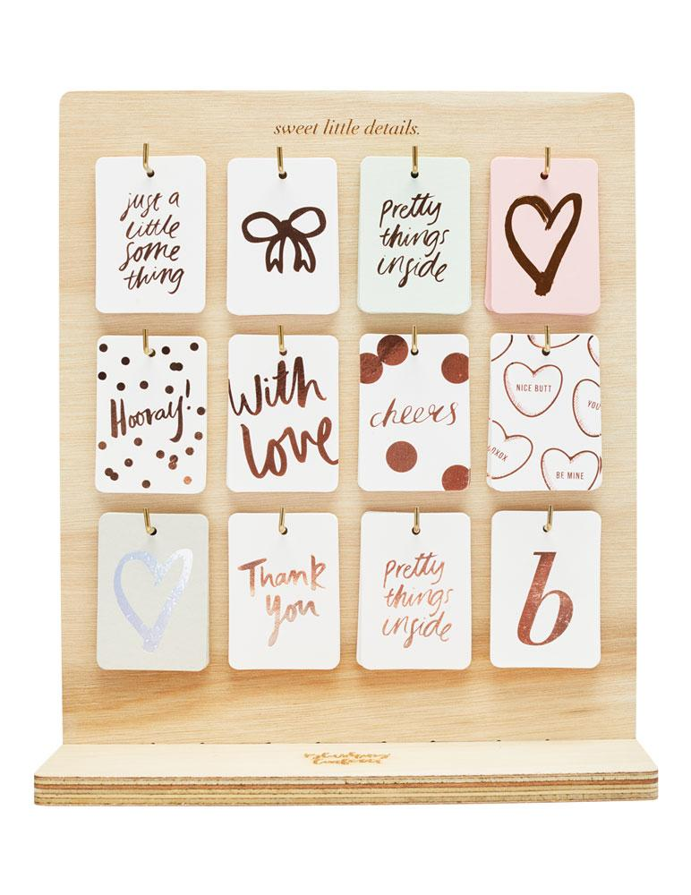 Heart (Blush) Foiled Gift Tag