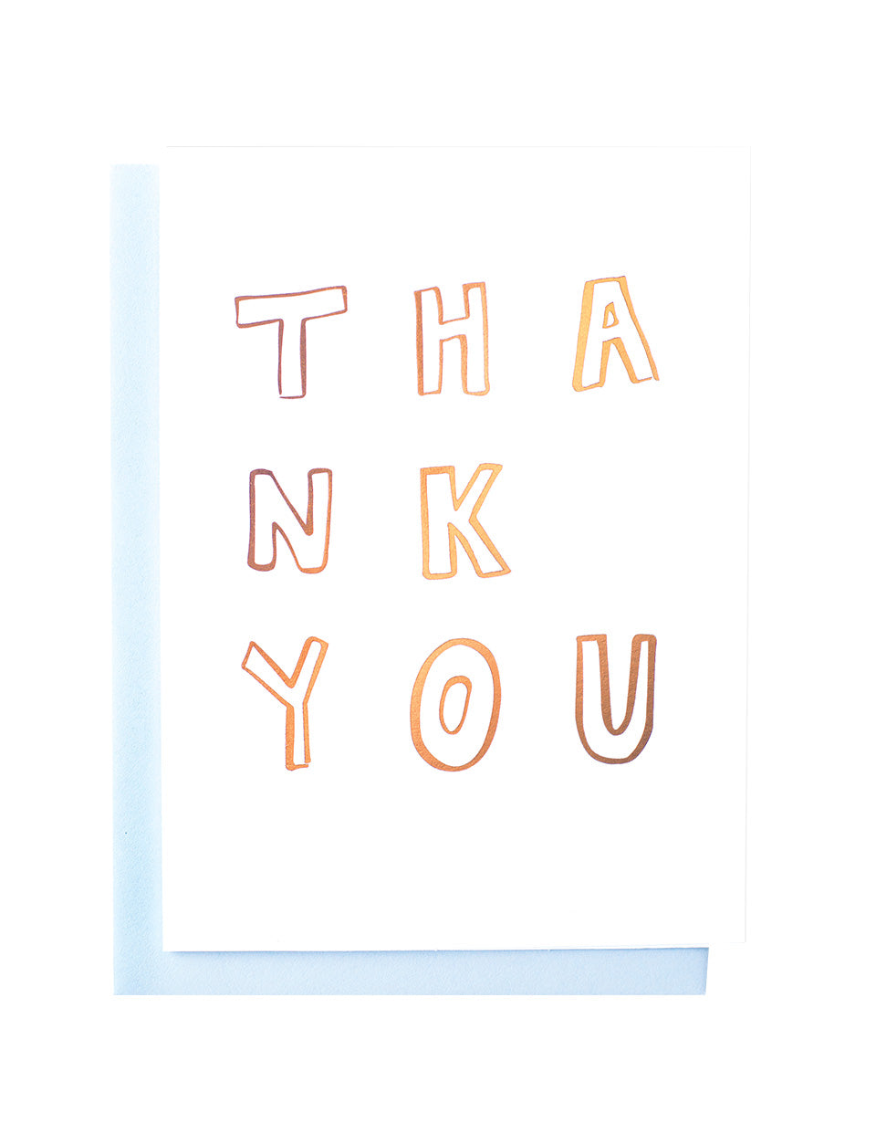 Gold Foiled Thank You Card Blushing Confetti