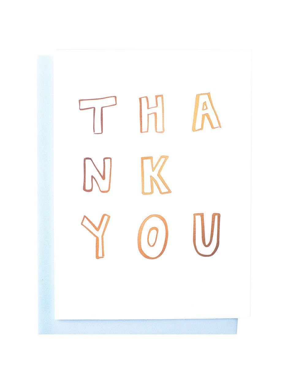 Thank You Greeting Card - Gold | Blushing Confetti