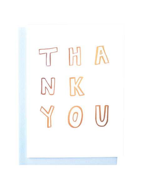 Thank You confetti foiled greeting card
