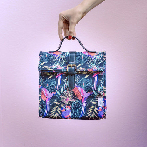 Tropical Birds Large Lunch Bag