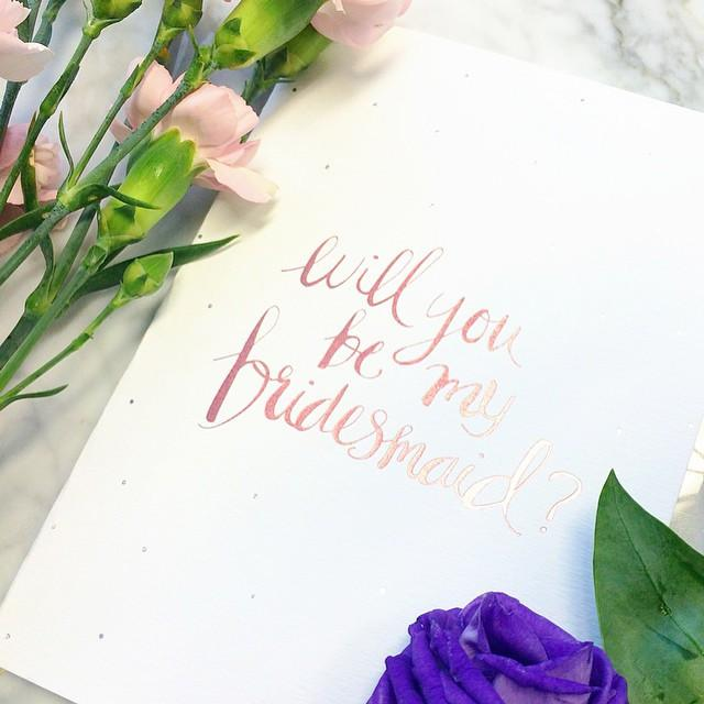 Will you be my Bridesmaid? foiled greeting card | Blushing Confetti