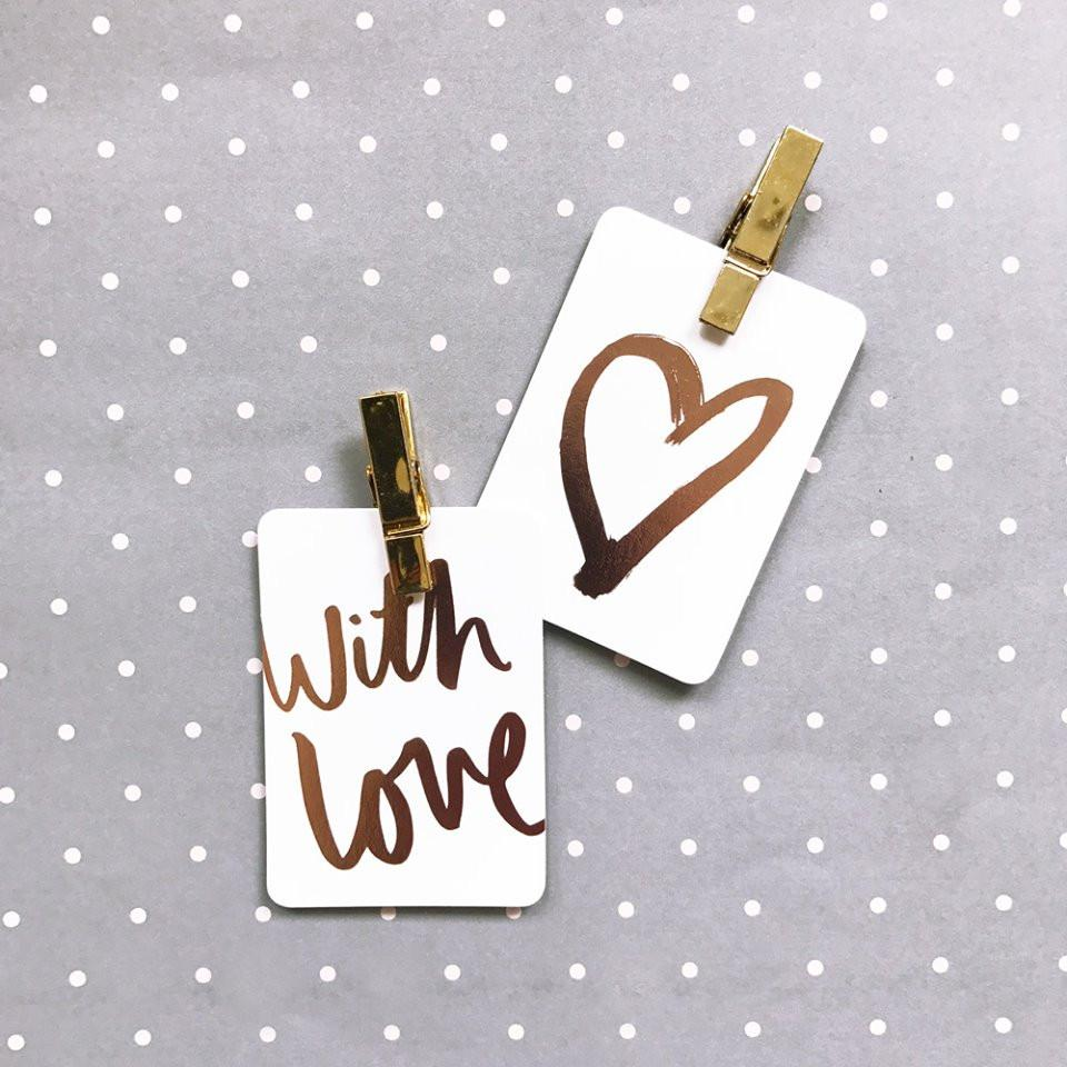 Individual Foiled Gift Tags (Print) | Blushing Confetti