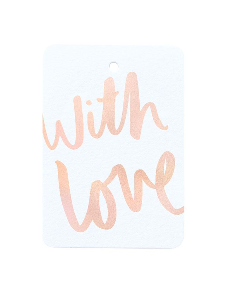 With Love Foiled Gift Tag