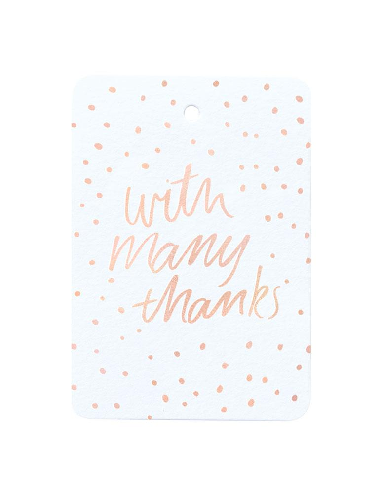 With Many Thanks Foiled Gift Tag
