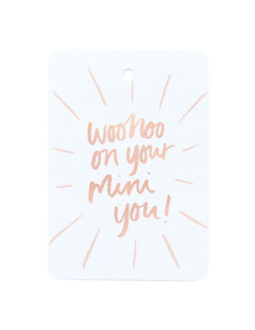 Woohoo On Your Mini You Foiled Gift Tag