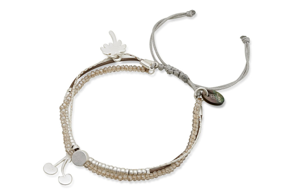 Abyss Silver Beaded Friendship Bracelet from Boho Betty - Zarabelle