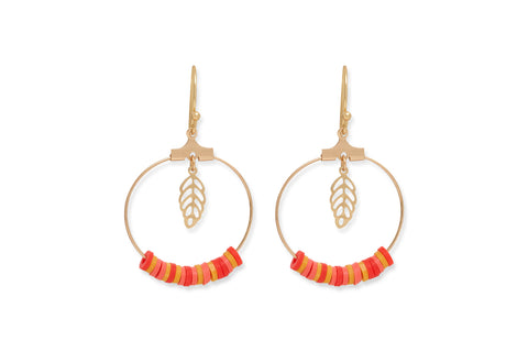 Avisa Beaded Hoop Earrings from Boho Betty - Zarabelle