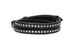 Acer Black Leather Double Wrap Buckle Bracelet from Boho Betty - Zarabelle