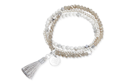 Azalea White Tassel Bracelet from Boho Betty - Zarabelle