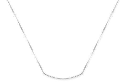 Carignan Sterling Silver Bar Necklace from Boho Betty - Zarabelle