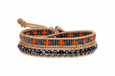 Etta Jones Double Wrap Leather Bracelet from Boho Betty - Zarabelle