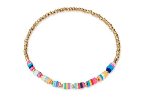 Kore Gold and Multicoloured Beaded Bracelet from Boho Betty - Zarabelle
