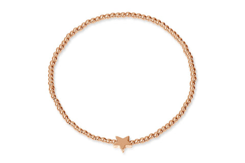 Maro Rose Gold Star Bracelet from Boho Betty - Zarabelle