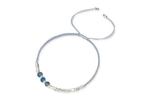 Sao Silver Tubed Friendship Bracelet from Boho Betty - Zarabelle