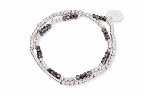Callisto Silver Crystal Wrap Bracelet from Boho Betty - Zarabelle
