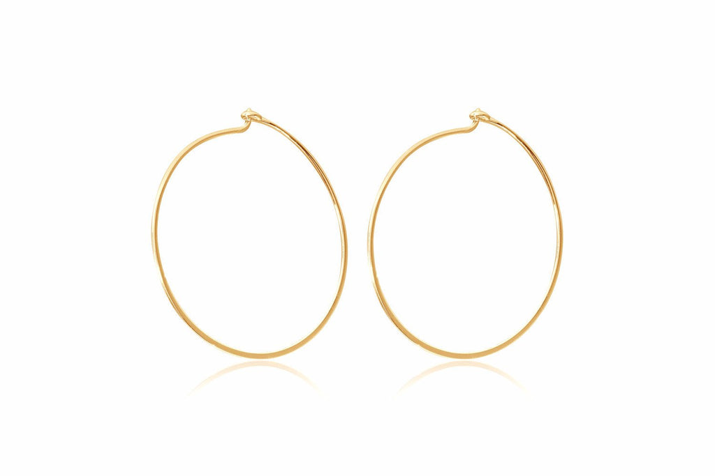 Clarke Gold Sterling Silver Hoop Earrings from Boho Betty - Zarabelle