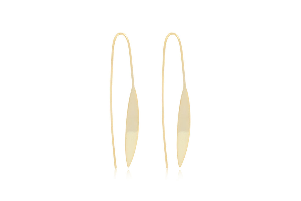 Cyrus Thread Through Gold Earrings from Boho Betty - Zarabelle