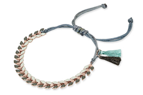 Deniz Two Tone Leaf Chain Bracelet from Boho Betty - Zarabelle