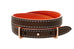 Elm Brown and Orange Double Wrap Reversible Leather Buckle Bracelet from Boho Betty - Zarabelle