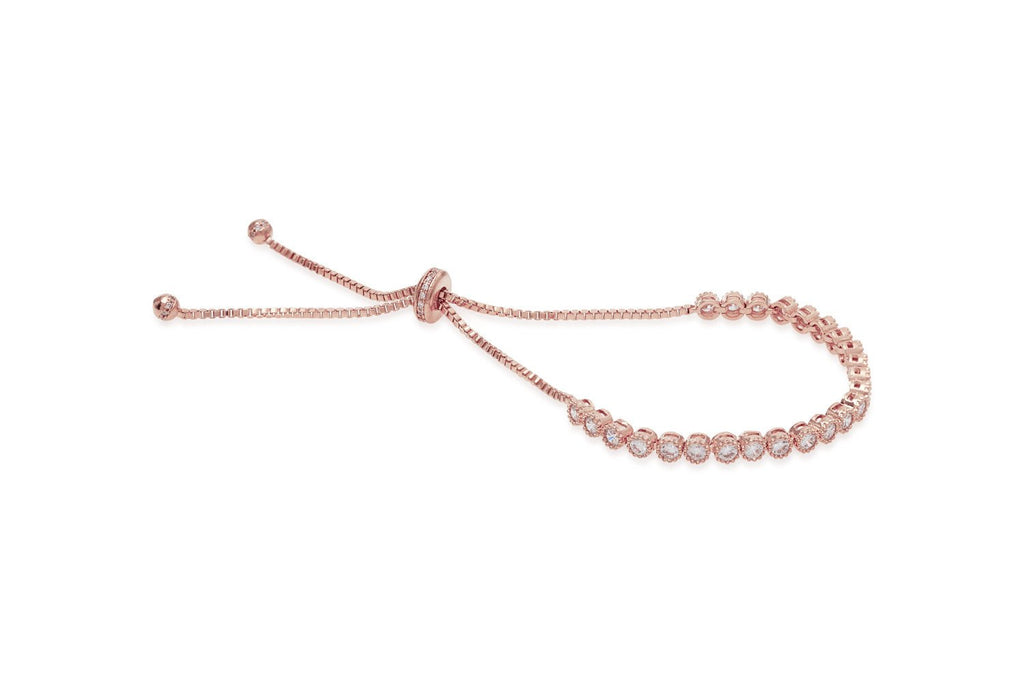 Evert Rose Gold Cubic Zirconia Tennis Friendship Bracelet from Boho Betty - Zarabelle