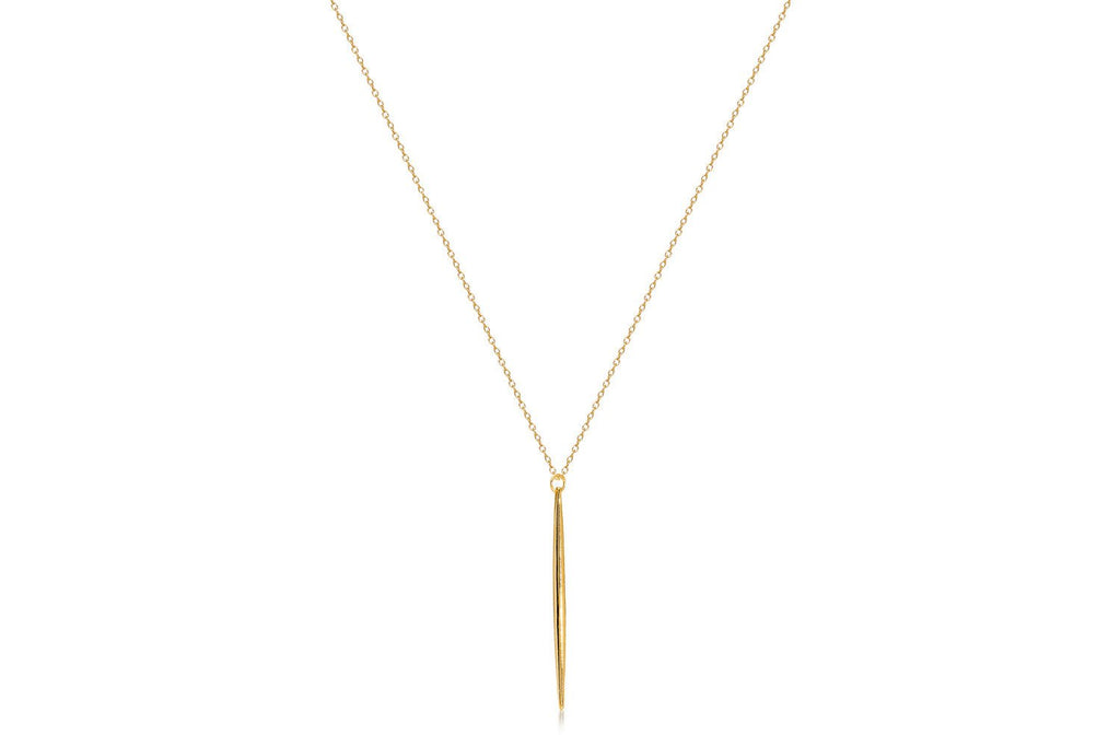 Frascati Gold on Sterling Silver Necklace with Spear from Boho Betty - Zarabelle