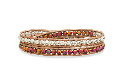 Glampagne Sparkle Double Wrap Crystal Bracelet from Boho Betty - Zarabelle