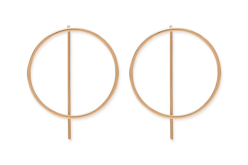 Harris Rose Gold Sterling Silver Circle Thread Earrings from Boho Betty - Zarabelle