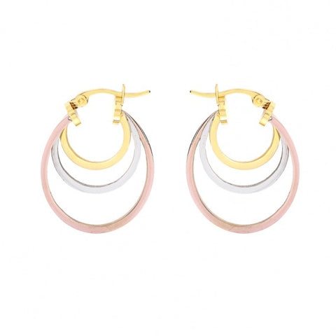 Triple Circle Multi Colour Earrings from Anartxy - Zarabelle