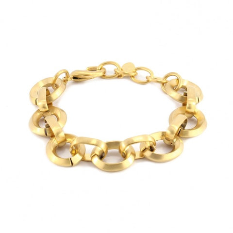Solid Chain Bracelet - Round Links from Anartxy - Zarabelle