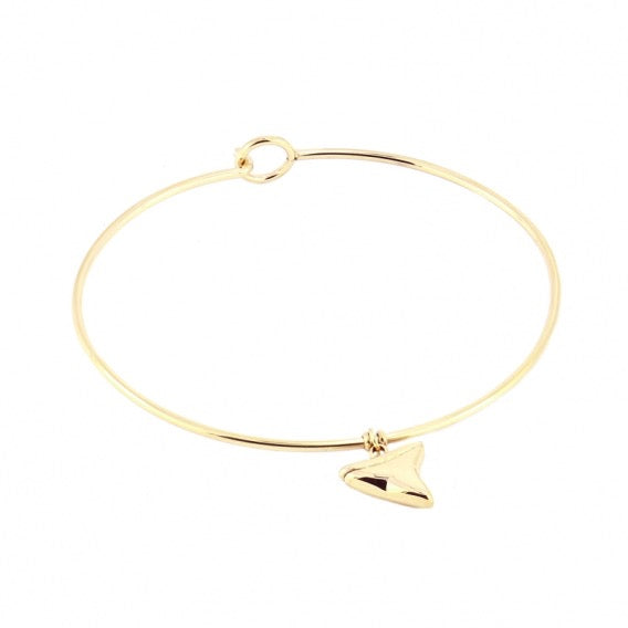 Delicate Solid V Bangle from Anartxy - Zarabelle