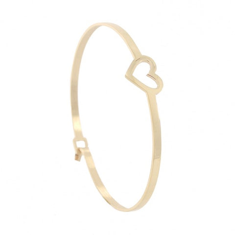 Delicate Heart Bangle from Anartxy - Zarabelle