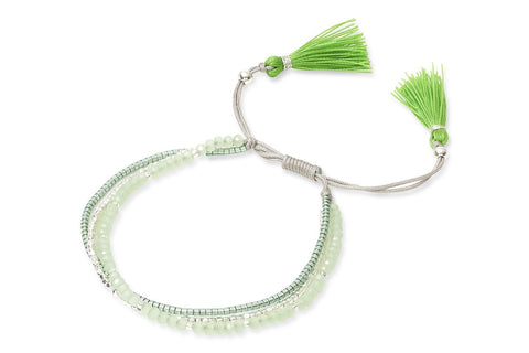Iridea Green Beaded Friendship Bracelet from Boho Betty - Zarabelle