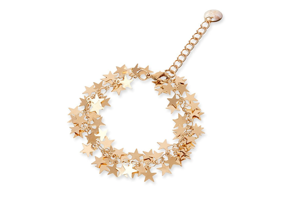 Karse Gold Star Bracelet from Boho Betty - Zarabelle