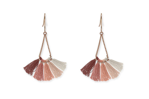 Mai Pink Ombre Tassel Earrings from Boho Betty - Zarabelle