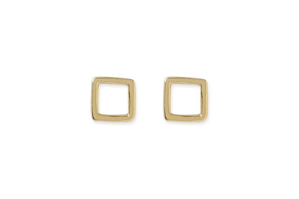 Newton Gold Plated Square Earrings from Boho Betty - Zarabelle