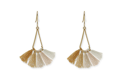 Ray Gold Ombre Tassel Earrings from Boho Betty - Zarabelle