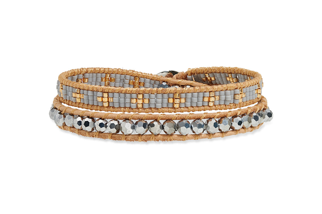 Flack Double Wrap Beaded Bracelet from Boho Betty - Zarabelle