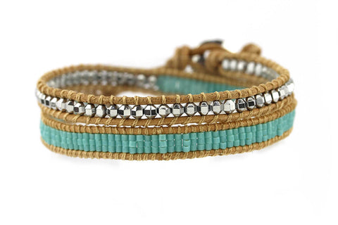 Rosemary Clooney Double Wrap Leather Bracelet from Boho Betty - Zarabelle