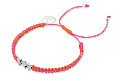 Starcki Fluoro Pink and Orange Friendship Style Bracelet from Boho Betty - Zarabelle